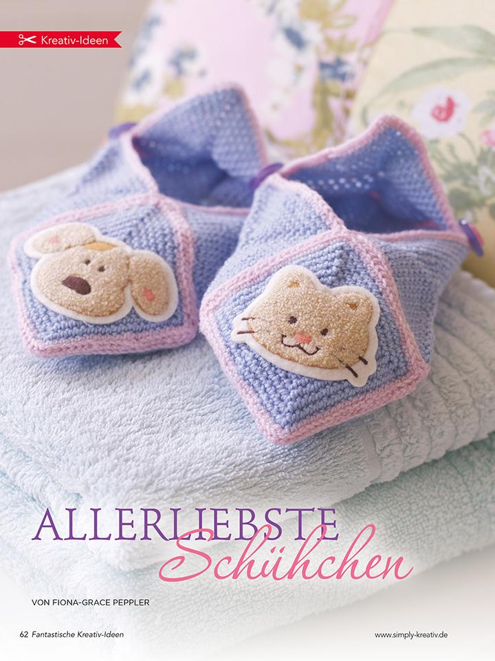 Die süßen Slipper sind bezaubernd und halten Babys Füße wunderbar warm!