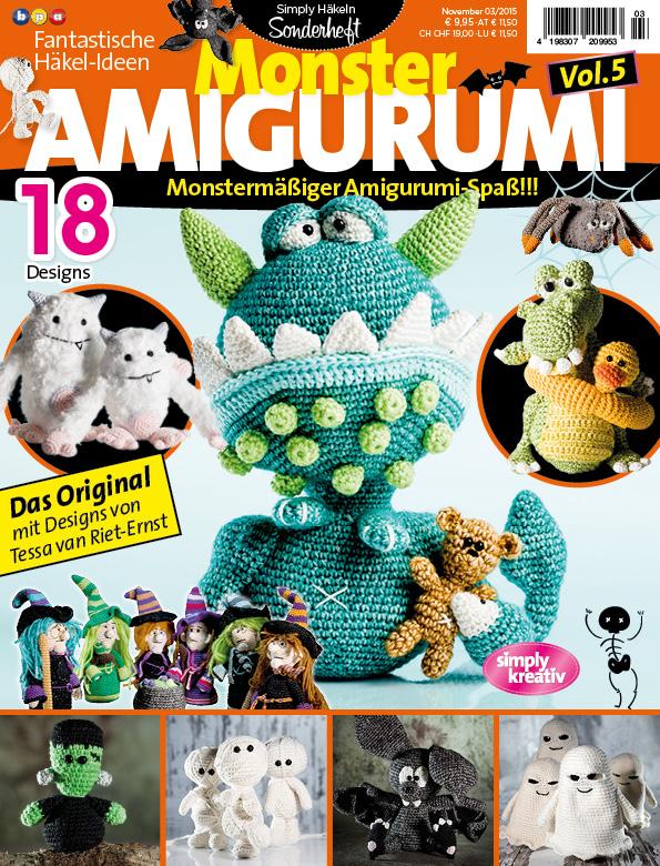 Amigurumi Hakel Zeitschrift : Fantastische Hakel-Ideen Monster Amigurumi Vol. 5 03/2015 ...