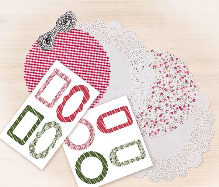 Material Einmachglas-Deko-Set 30302 von Folia rot/gruen