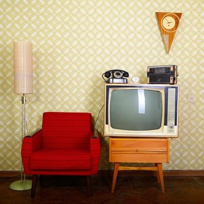 Retro Einrichtungsstil Radio, Sofa und Co.