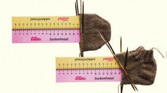 Socken nach Maß: Kein Problem mit dem Simply Kreativ Sockenlineal