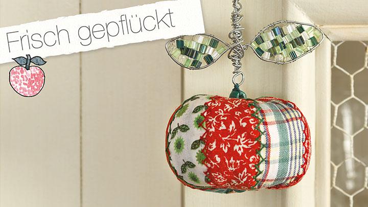 Simply Kreativ Nähen Home-Deko Heft 06/14 Anhänger Apfel