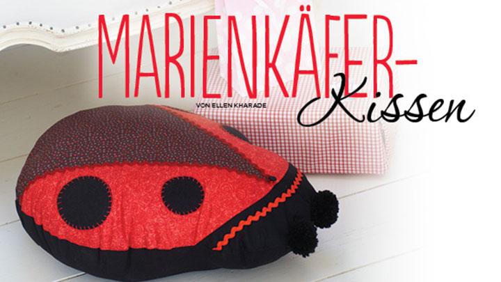 Marienkäferkissen Simply Kreativ 02/2014