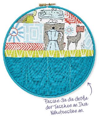 Cooler Stickrahmen von Sarah Griffith aus der Simply Kreativ Patchwork + Quilting 02/2014 Ordnungshelfer