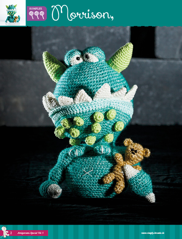 Free Crochet Patterns for Various Monster Amigurumis ⋆ Crochet ... | 780x595