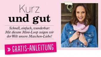 Gratis Strickanleitung Mini-Loop Simply Stricken