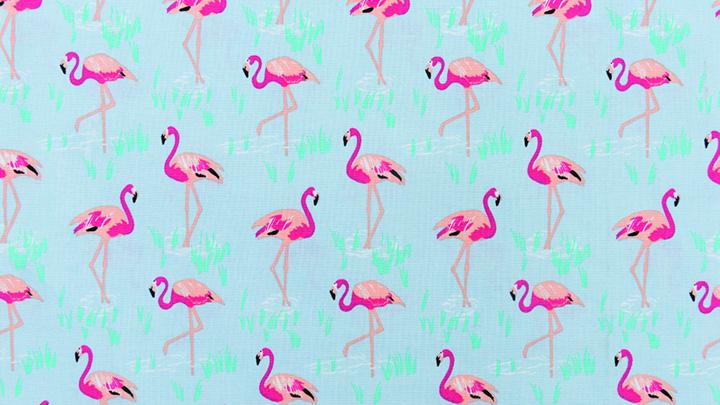 Stoffneuheiten Rico Design Stoff Flamingo Kollektion Tropical Spring