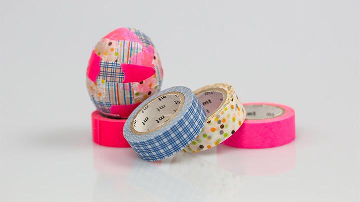 Eier mit Washi-Tape