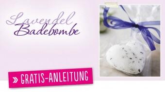 Gratis DIY Anleitung Lavendel Badebombe Simply Kreativ