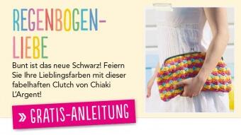 Gratis Häkel Anleitung Regenbogen Clutch Simply Häkeln Sommer-Special 01/2014