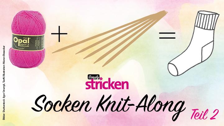 Socken Knit Along Teil 2 Fersenwand Kappchenferse Simply Kreativ