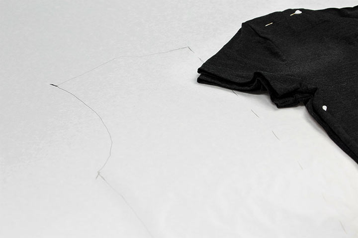 Schnittmuster abnehmen DIY Shirt03