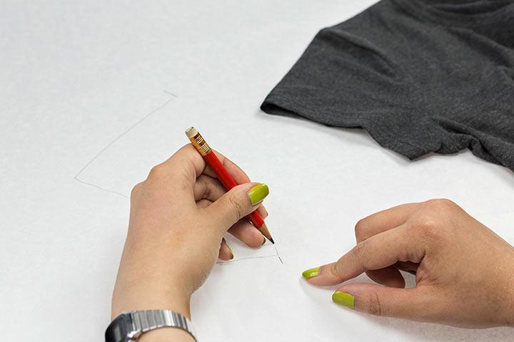 Schnittmuster abnehmen DIY Shirt05