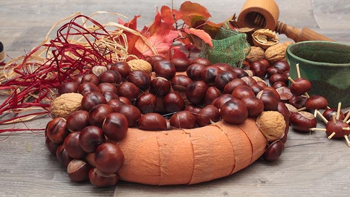 DIY-Ideen Herbst Kastanien