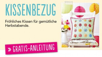 Gratis Nähanleitung Kissenbezug patchwork & Quilting 0414