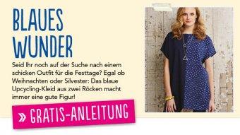 Gratis Nähanleitung Upcycling-Kleid Simply Nähen 02/2015