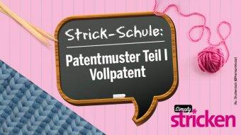 Strickschule Vollpatent