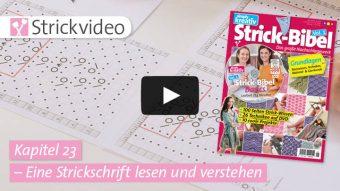 Strickvideo Kapitel 23 - Eine Strickschrift lesen und verstehen - Strick-Bibel Vol.1