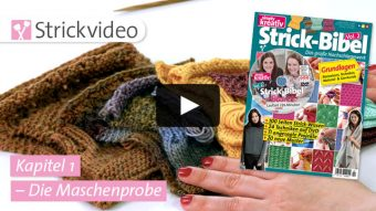 Strickvideo: Maschenprobe - Kapitel 1 (Strick-Bibel Vol. 2)