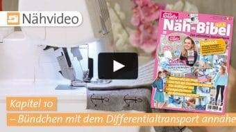 Nähvideo Kapitel 10 - Bündchen mit dem Differentialtransport annähen - Näh-Bibel Vol. 6