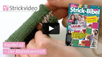 Strickvideo: Der Matratzenstich - Kapitel 23 (Strick-Bibel Vol. 2)