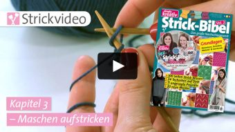 Strickvideo: Maschen aufstricken - Kapitel 3 (Strick-Bibel Vol. 2)