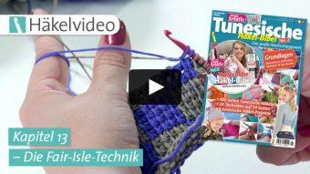 Häkelvideo: Die Fair-Isle-Technik - Kapitel 13 (Tunesische Häkel-Bibel Vol. 2)