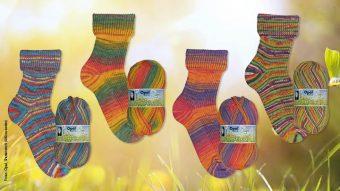 Opal, Sockenwolle, stricken, Frühlingsduft
