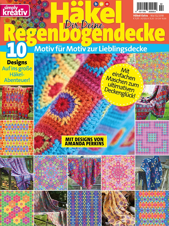 Simply Kreativ Häkel dir deine Regenbogendecke 02/2018