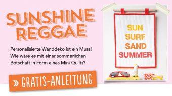 Blog - Gratisnaleitung - Simply kreativ - Sunshine Raggae