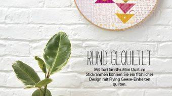 Nähanleitung - Rund gequiltet - Simply Nähen - 03/2018