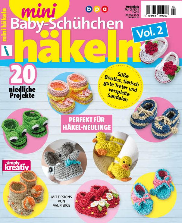 new arrival 3fa28 ff88a Mini Häkeln Vol. 2 – Baby-Schühchen