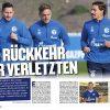 Verletzte - Fussballmagazin Schalke 04/2018