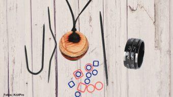Stricktools von KnitPro: Reihenzähler-Ring und magnetische Kette