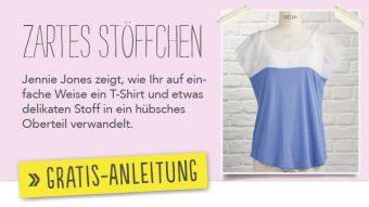 Newsletter Gratis Nähanleitung - Zartes Stöffchen