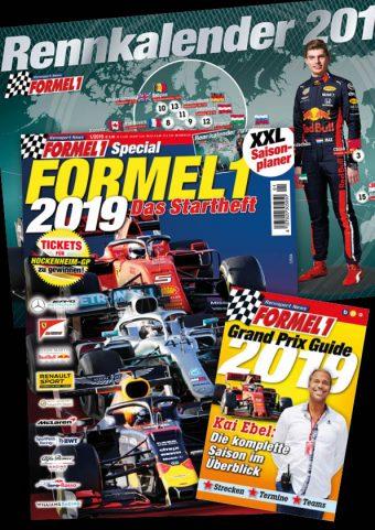 Rennsportmagazin Formel-1-Startheft 2019 inkl. XXL Rennkalender und Kai Ebel Planer