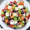 Rezept - Griechischer Salat mit Senfdressing - Bewusst Low Carb