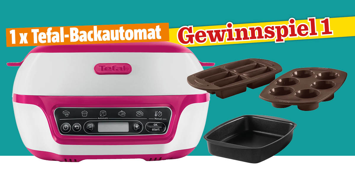 Header - Gewinnspiel Das große Backen® 04/2019 - Tefal-Backautomat