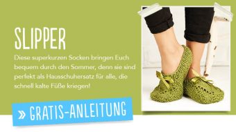 Gratis Strickanleitung - Slipper