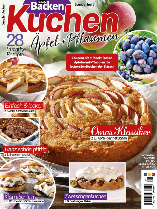Simply Backen Sonderheft Kuchen Äpfel + Pflaumen