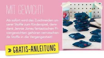 Newsletter Gratis Nähanleitung - Mit Gewicht!