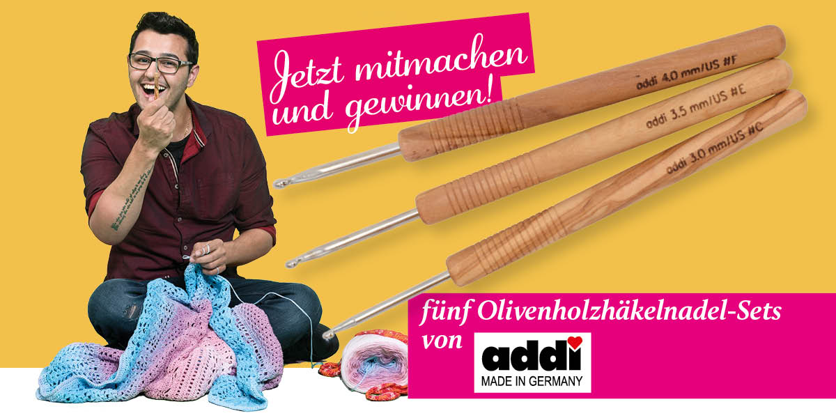 FACEBOOK - Simply Kreativ Sonderheft Häkeln mit Meti Vol. 1 Gewinnspiel Olivenholzhäkelnadel-Sets