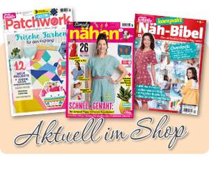 Aktuelle Nähmagazine im Simply Kreativ Shop