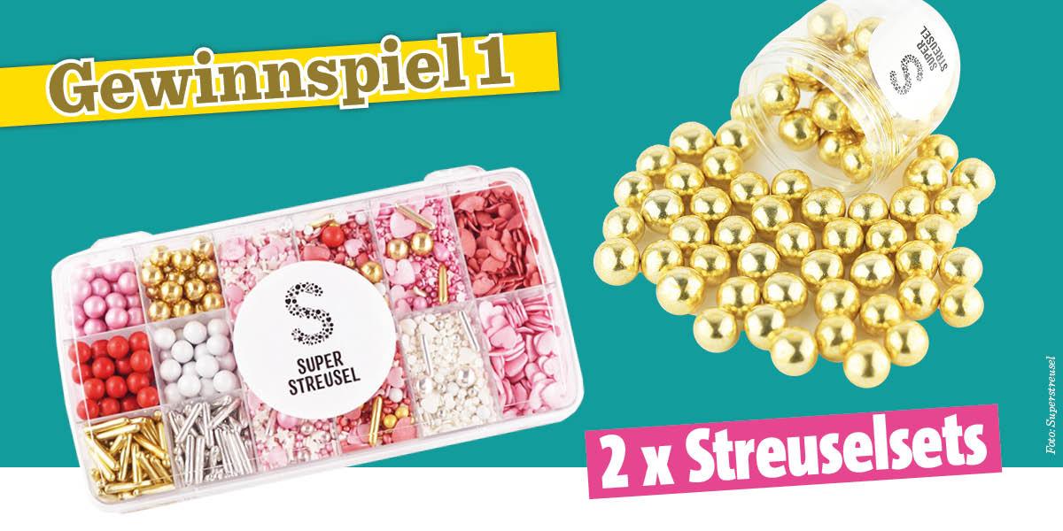 Gewinnspiel Simply Backen Sonderheft Weihnachtsbacken mit Janet & Jasmin 01/2019 - Streuselsets