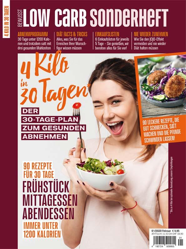 Bewusst Low Carb Sonderheft: 4 Kilo in 30 Tagen – 01/2020
