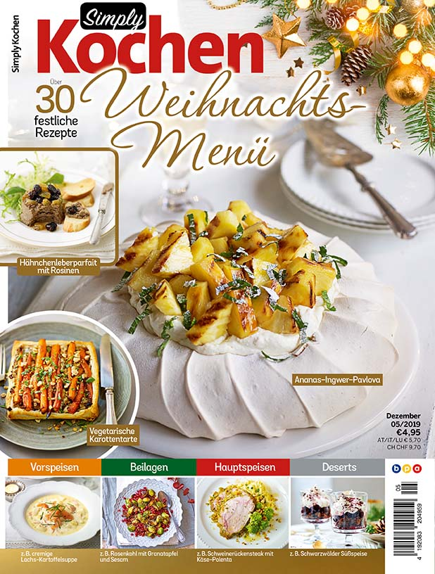 Simply Kochen Weihnachts-Menü – 05/2019