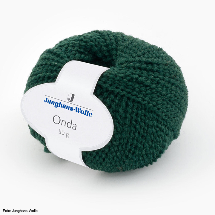 Onda Junghans-Wolle, dunkelgrün