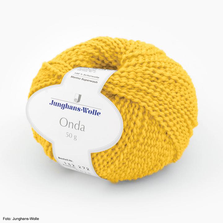 Onda Junghans-Wolle, gelb