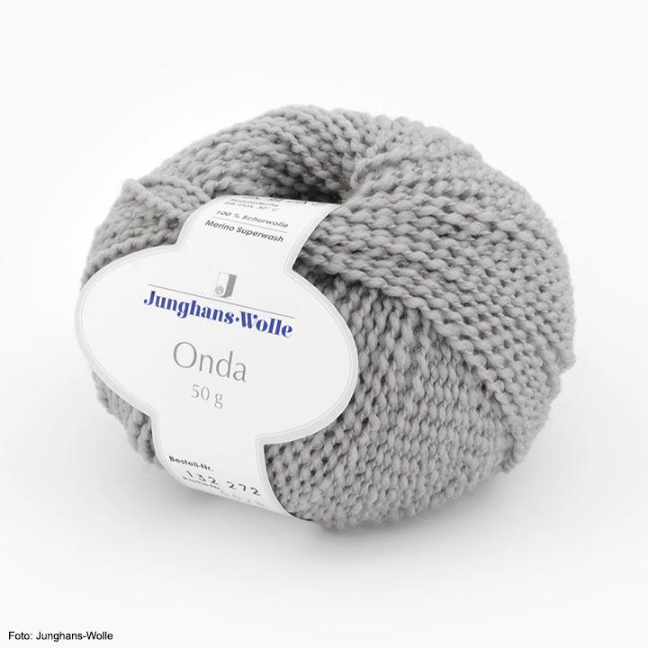 Onda Junghans-Wolle, grau