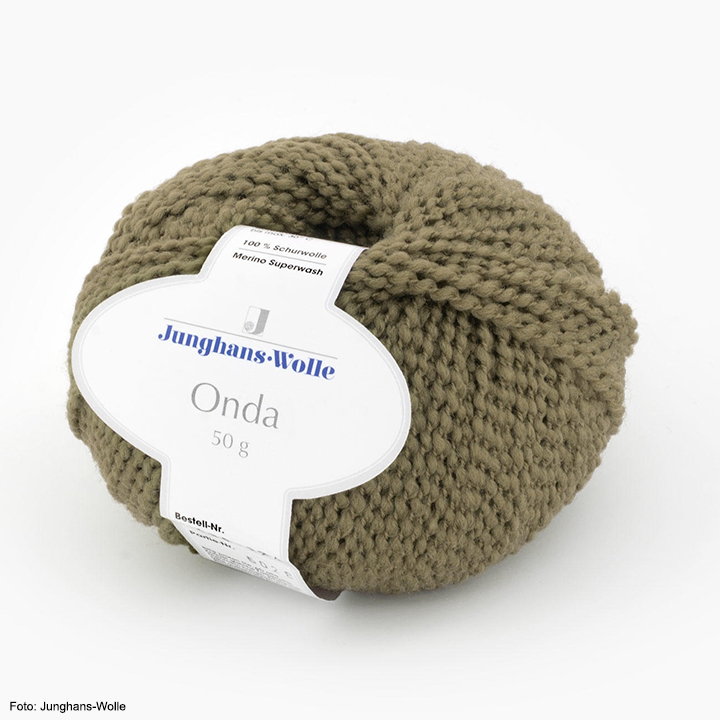 Onda Junghans-Wolle, oliv